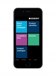 The new ProApp from Geberit helps installers access fitting instructions and spare directly from their smart phone