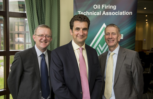Left to right: Martyn, Nick and OFTEC director general, Jeremy Hawksley, at OFTEC's 2015 AGM and annual conference.