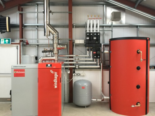 The very first UK installation of Windhager's new hybrid technology DuoWIN boiler has been installed at the new headquarters of McInnes Plumbing & Heating and McInnes Renewables.