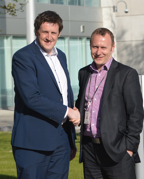 Andrew Robinson (L) and Jody Lees