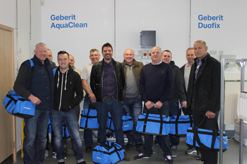 Eleven of the recent 170 installers that have undertaken training at Geberit.