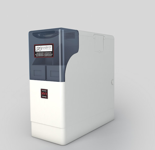 A water softener works by removing the 'hard' minerals from water using ion exchange to prevent damage to households.