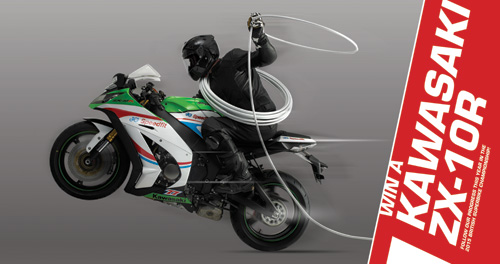 Win a Kawasaki ZX-10R bike.