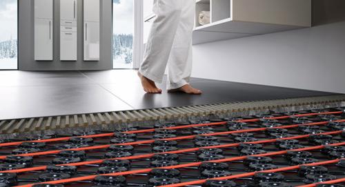 HVAC under-floor heating