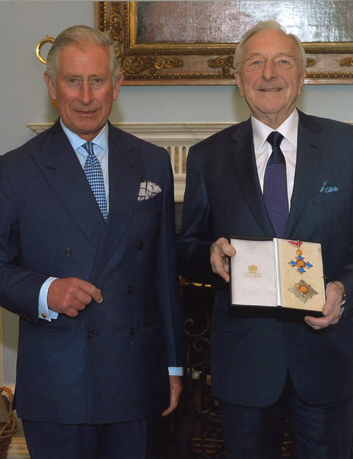 Sir Martin Naughton receiving his award with HRH the prince of Wales