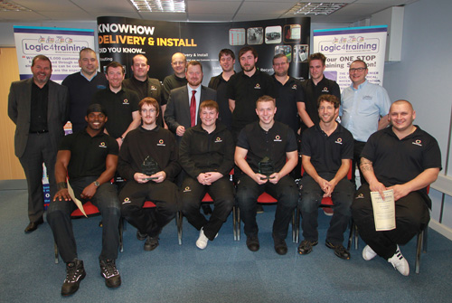 The 13 fully trained building services apprentices