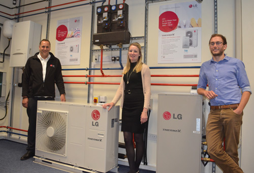 The Bubleshop team in the impressive LG training area
