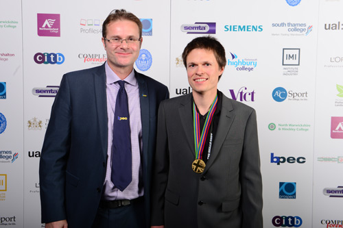 Neil Collishaw, of sponsor BPEC, with Richard (right)