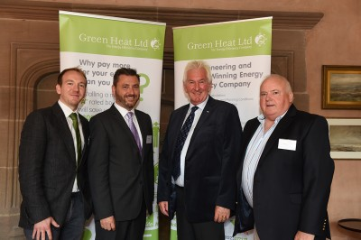 Peter Thom (third from left) at Green Heat's anniversary