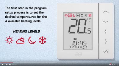 JG Aura heating controls installation videos