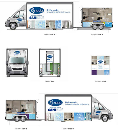 Coming soon to a venue near you, the fully kitted Kinedo by Saniflo roadshow truck