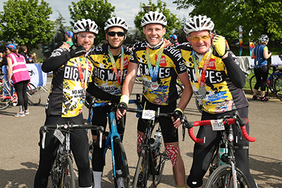 The Big Wipes team at the end of the race.