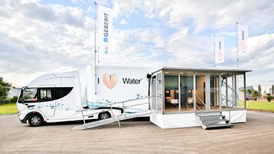 Geberit AquaClean truck showroom