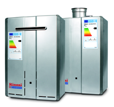 Rinnai Condensing heater group with ErP label