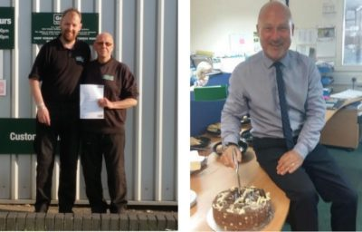 Jim Gray and Ian Yuill celebrate 40 years at Graham.