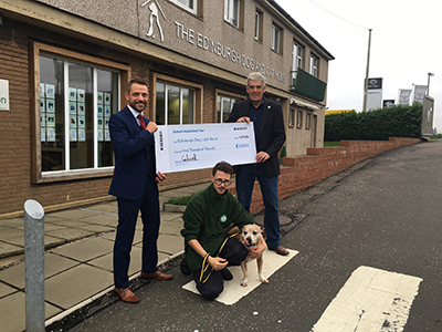 Edinburgh Dog and Cat Home are one of the five charities to receive a cheque for £1,000 from Geberit