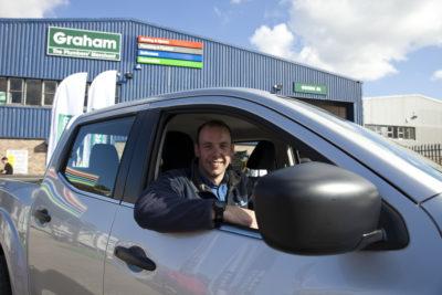 Andrew in his new Nissan Nivara