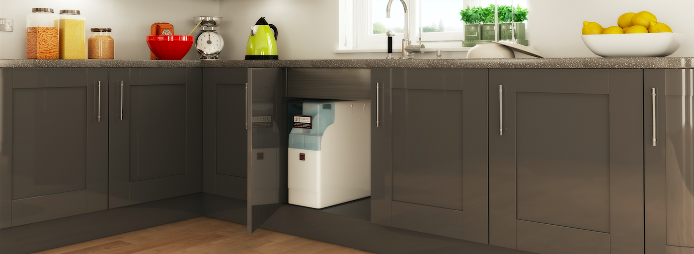 Harvey Water Softener in kitchen