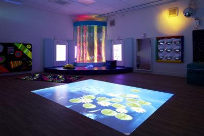 A rainbow multi-sensory room