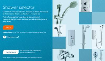 Shower Selector tool