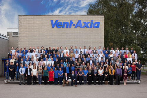Vent-Axia's Crawley team celebrate 80 years