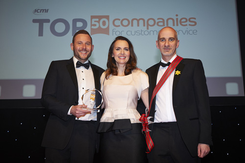 Baxi has been awarded fifth place in the Top 50 Companies for Customer Service Awards in the UK