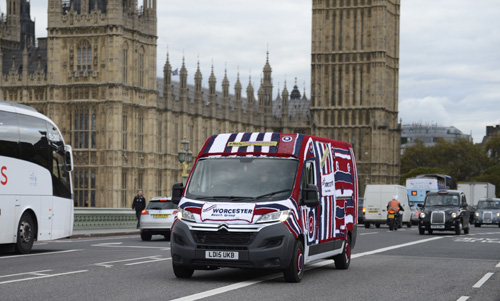 Worcester takes to the streets in a knitted van