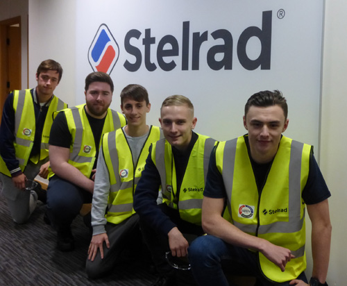 The five apprentices that have joined the Stelrad team – (left to right) Aaron Kelly, Matthew Scott, Tyler Friend, Harrison Smith and Kyle Davies