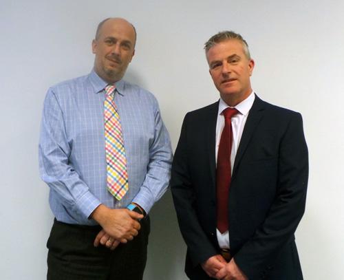 Dan Wild (left) with Bill Barlow
