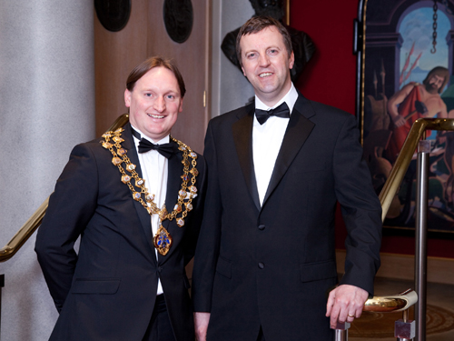 """Paul Williams, with Jonathan Edwards MP (right), said: """"This Presidency has been the highlight of my plumbing career."""""""