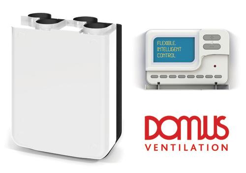 Domus Ventilation MVHR wall units with Bluebrain control