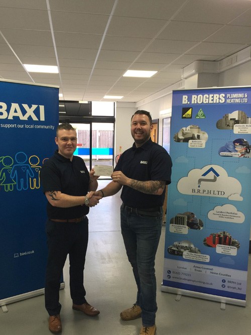 Bradley Rogers with area sales manager, Peter McBride