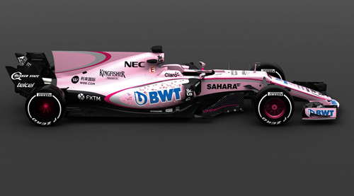 BWT is sponsoring the Sahara Force India Formula 1 racing team