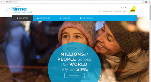 Sime launches a brand new look for its website