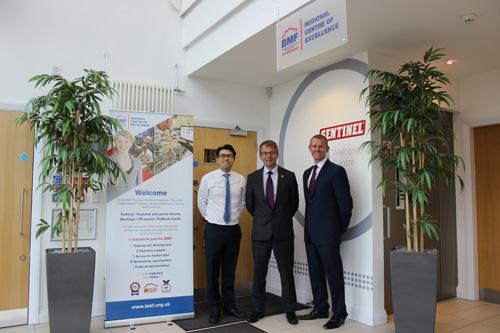 L-R: Daniel Cheung (Sentinel UK Trade Marketing Manager) Matt Haines (BMF Regional Manager) and Neil Davies (Sentinel Trade Marketing Director).
