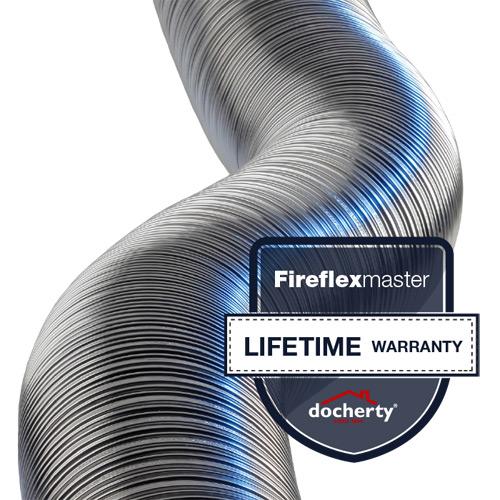 Fireflexmaster flexible flue liner products gets lifetime warranty
