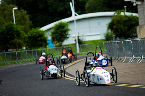 Students from Ganton School take to the race track. (Credit: Spacesuit Media | Adam Pigott).