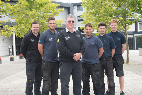 : Left to right: Dan Haythorntwaite, Spencer Jordan, Edward Padgett, Alan Baxter, Liam Collins, Henry Padgett Photo credit: Andy Ford