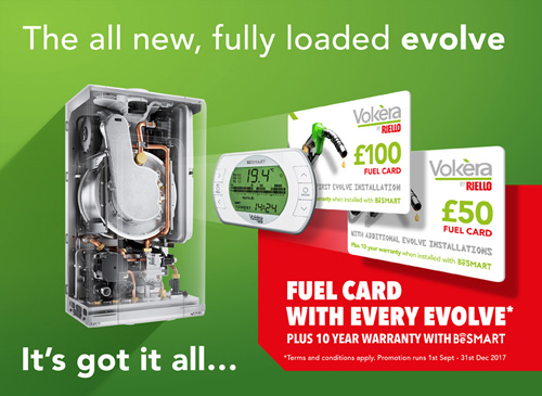 Save money on fuel with the state-of-the-art evolve from Vokèra