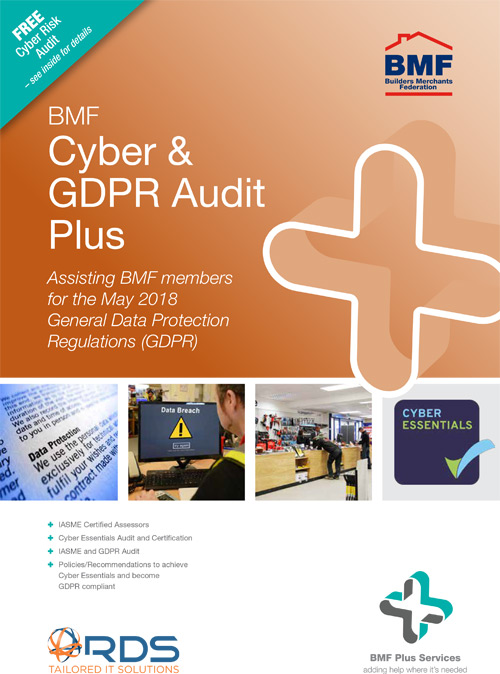 The BMF Cyber & GDPR Audit Plus flyer