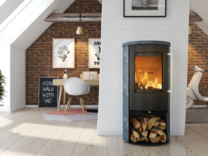 Wood burning stoves burn completely causing less particulates to enter the atmosphere.