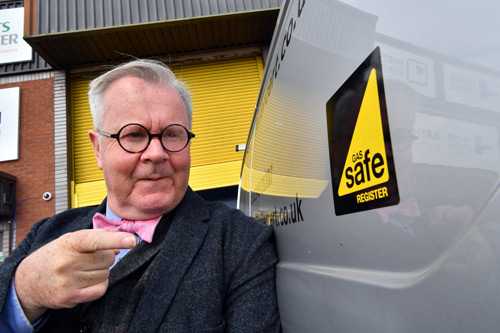 Tim Pollard promotes Gas Safety Week