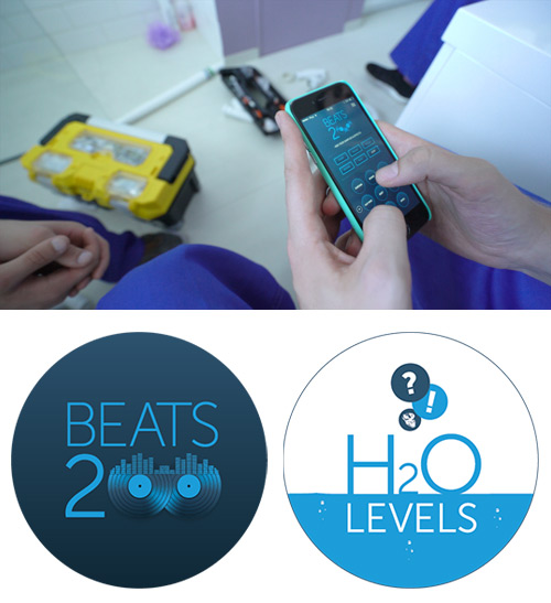 Test your knowledge and music skills with the H2O Levels Quiz and Beats 200 app.