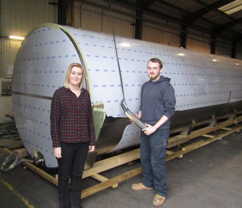 New Fabdec apprentices Sophie Jones and Daniel Fullerton