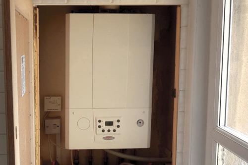 The installed E-Tec combi boiler.