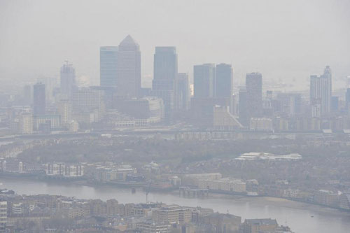 Outdoor air quality across the UK has breached world health guidelines