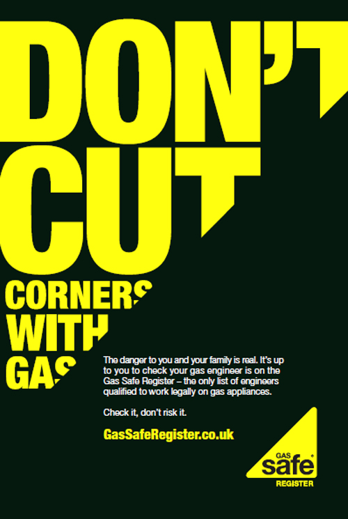 The campaign poster from Gas Safe Register