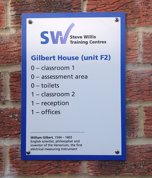 an example of the signs that will be on display at the Burgess Hill training centre