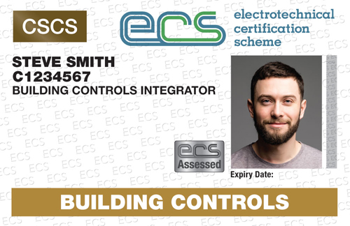 An example of the new ECS card from the BCIA