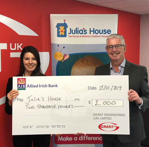 Julia's House cheque presentation